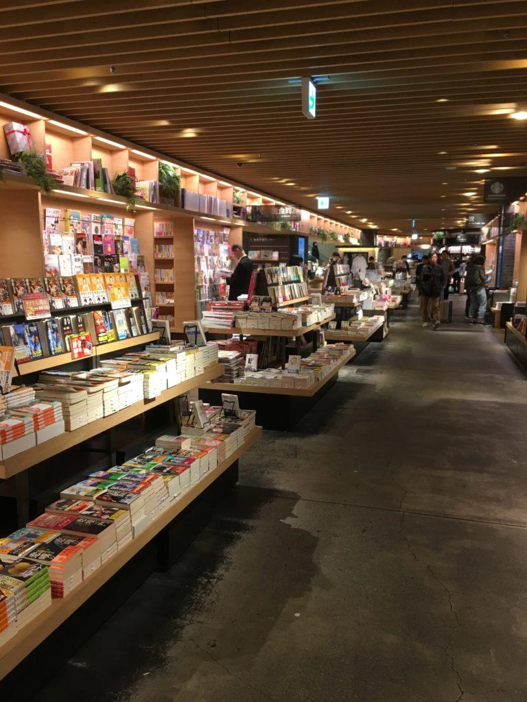 蔦屋書店の店内の雰囲気