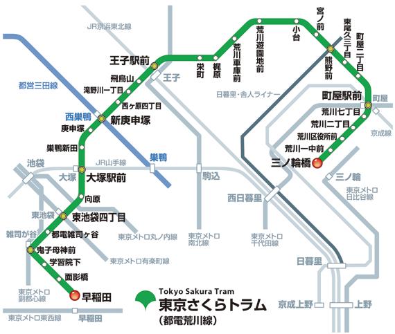 都電荒川線の地図