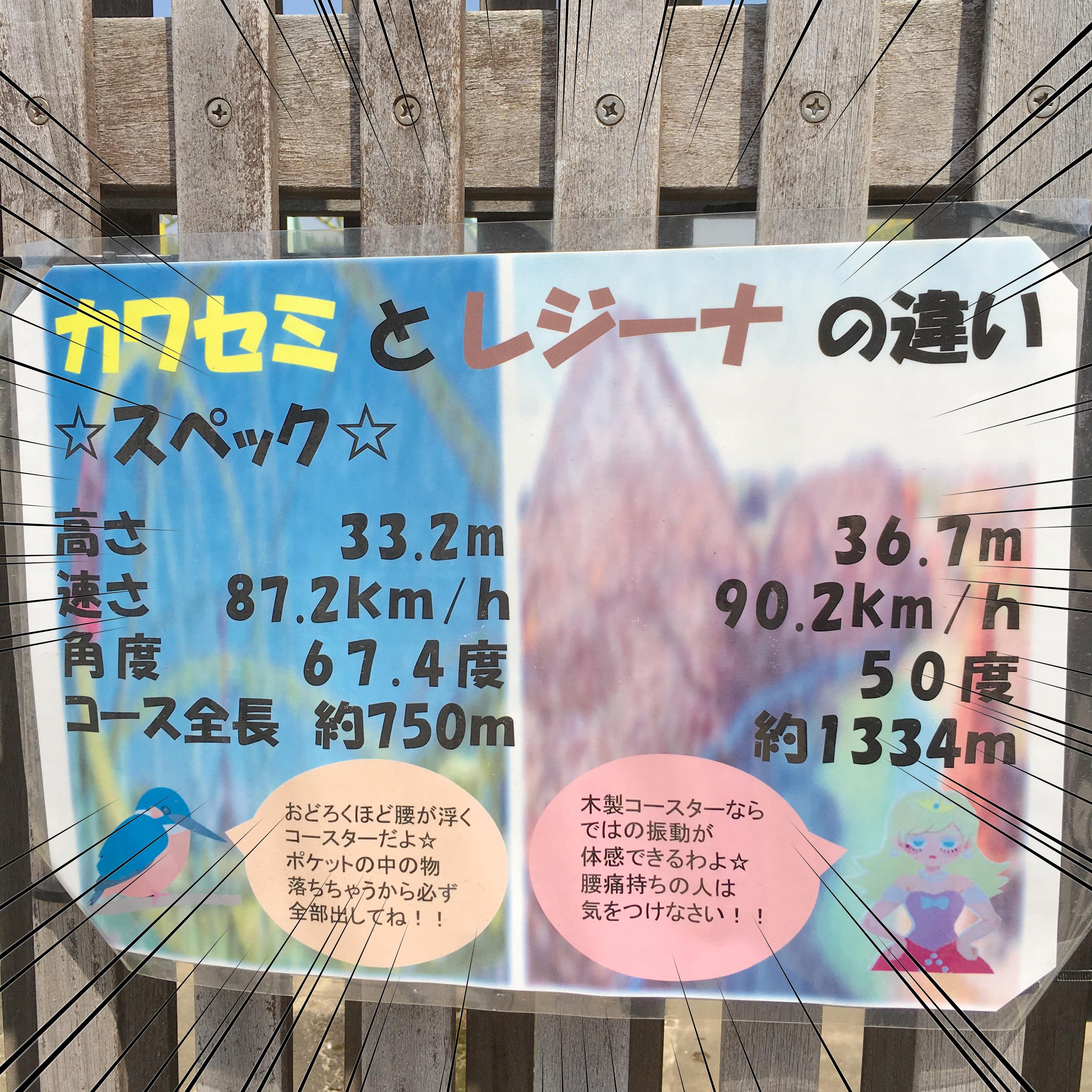 東武動物公園のレジーナとカワセミの特徴【ある意味怖いジェットコースター】