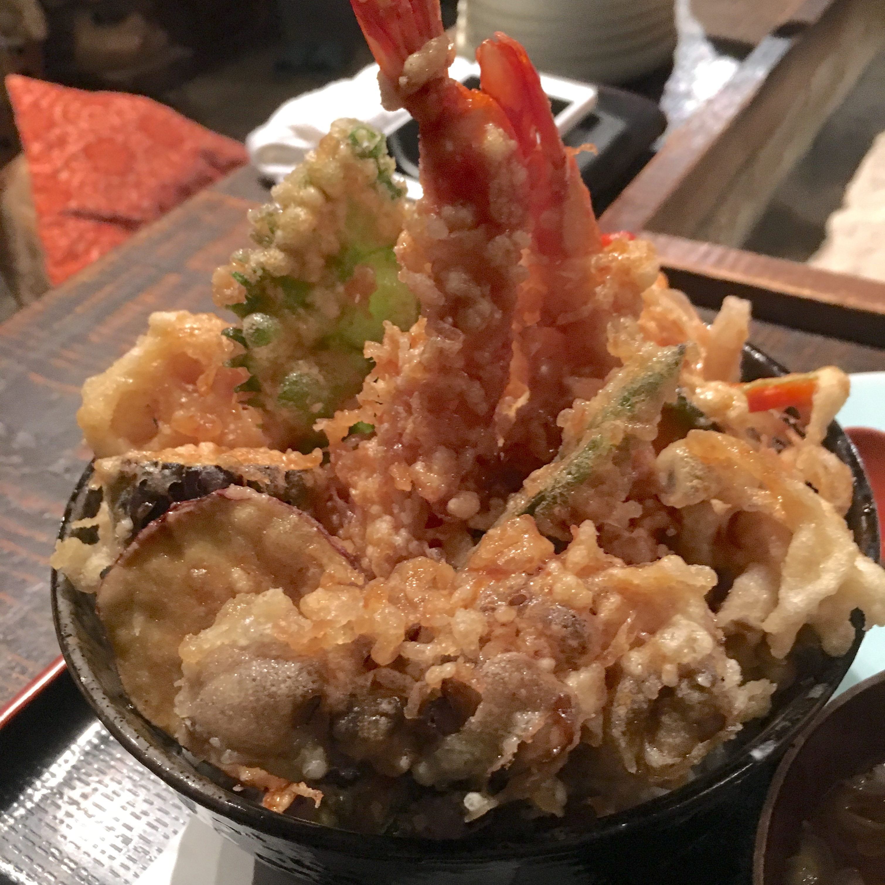 上尾・高半|ディナータイムに大盛り天丼&海鮮丼を食べたレビュー!