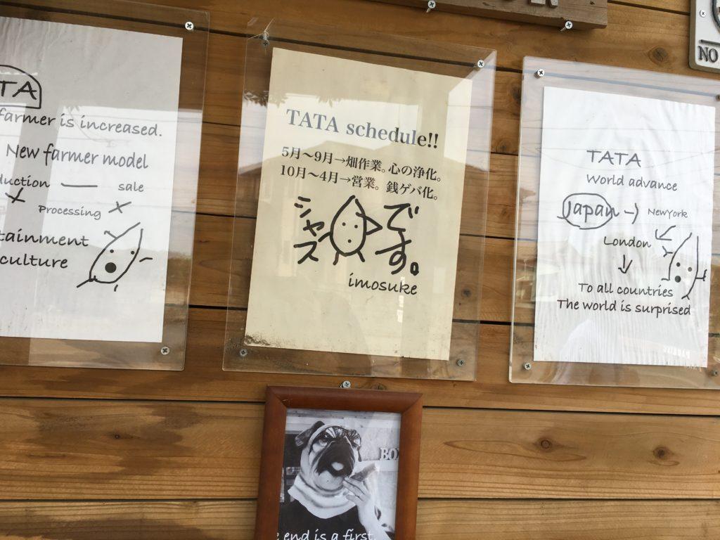 芋屋TATAに飾られていた写真など