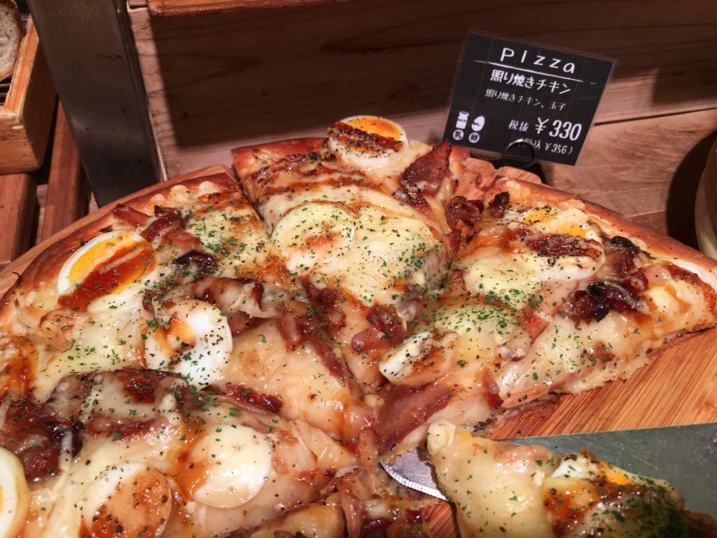 テリヤキチキンのピザ