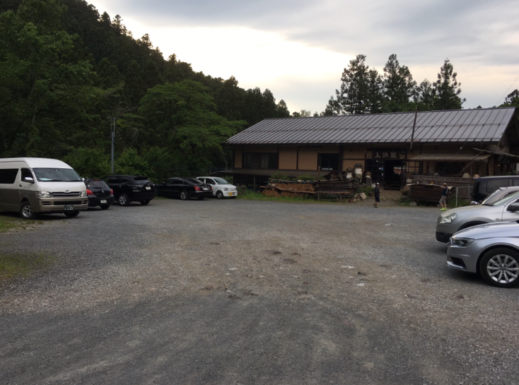 橋立鍾乳洞の駐車場