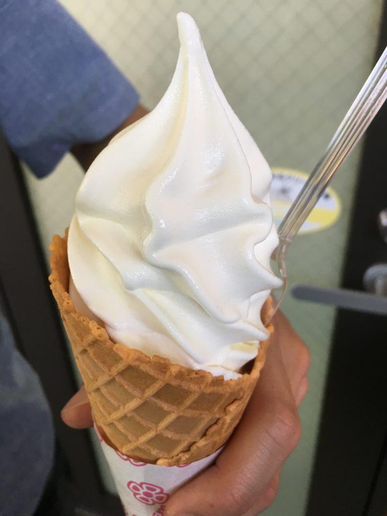 氷菓子工房の豆乳ソフトクリーム