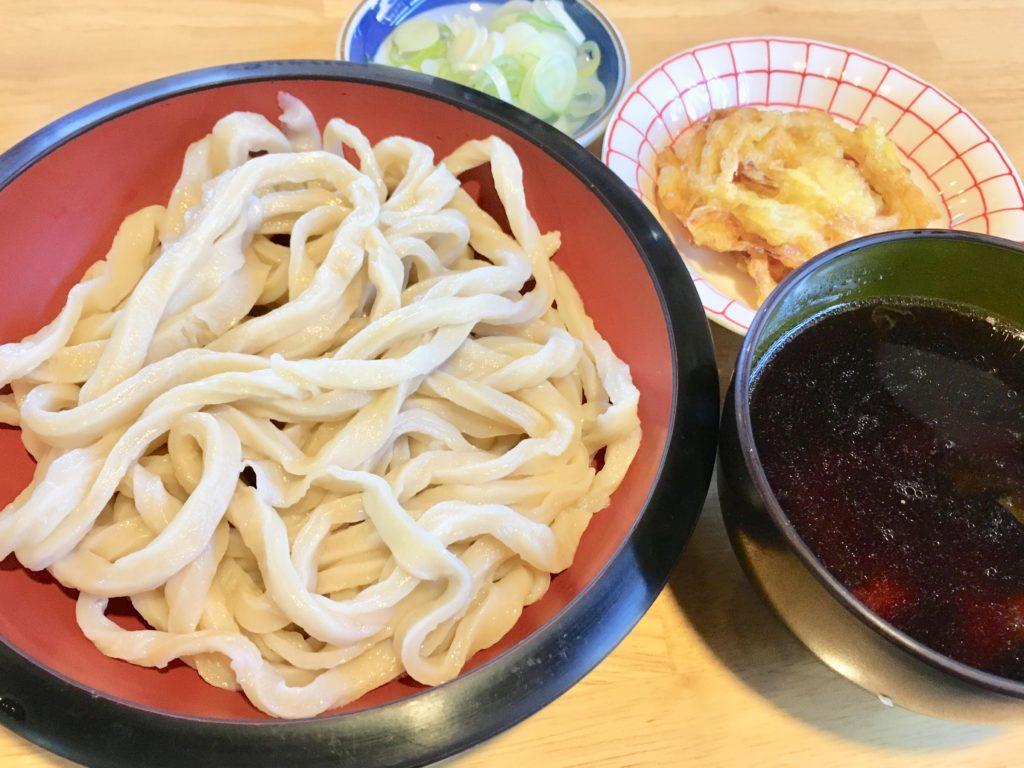 松屋のもりうどん+玉ねぎ天ぷら