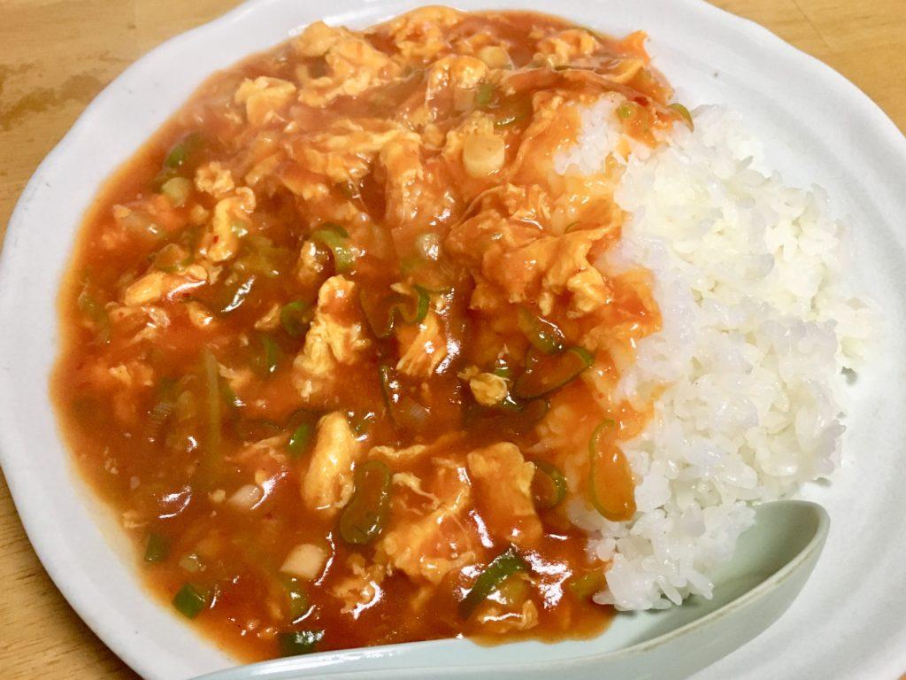 上尾飯店の卵チリ丼