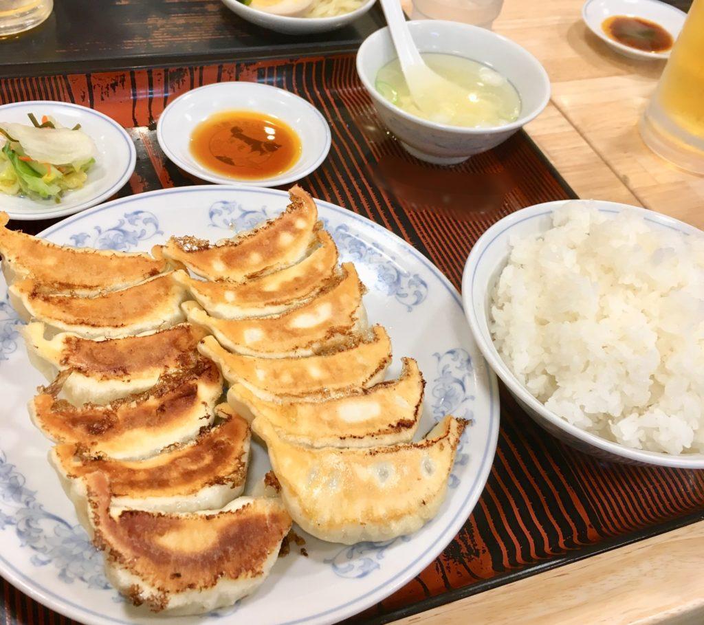ダブル餃子定食のアップ写真