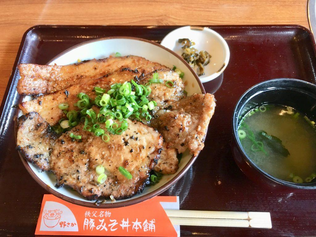 豚みそ丼・味噌汁・お漬物