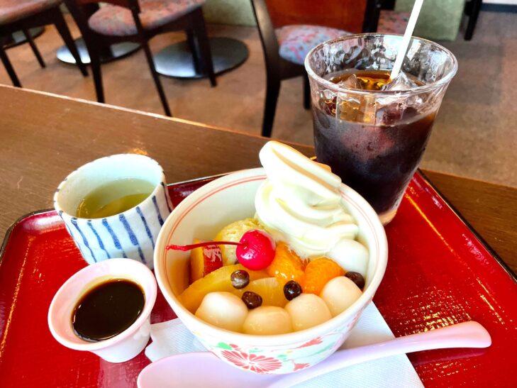元町珈琲店ちもとの白玉クリーム芋あんみつ