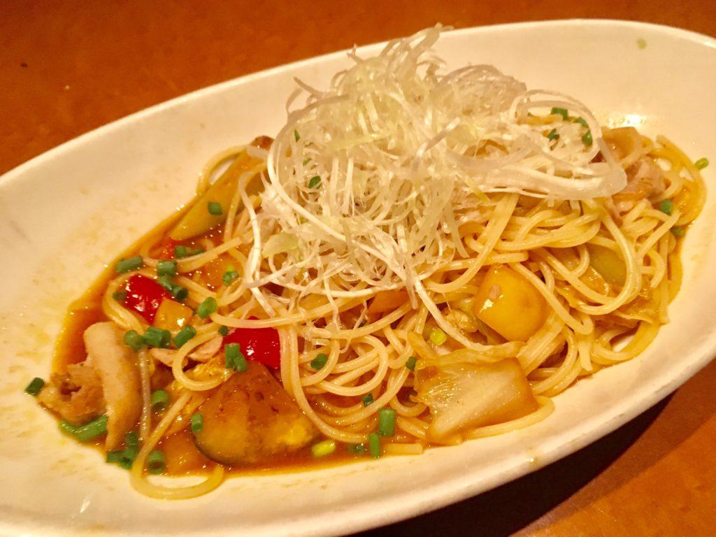 茶屋草木万里野 上尾店のスパゲティ