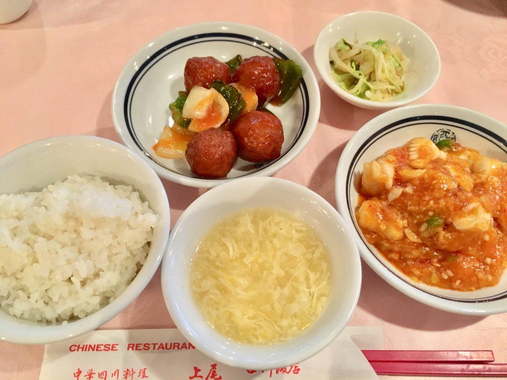 上尾四川飯店の日替わりランチ