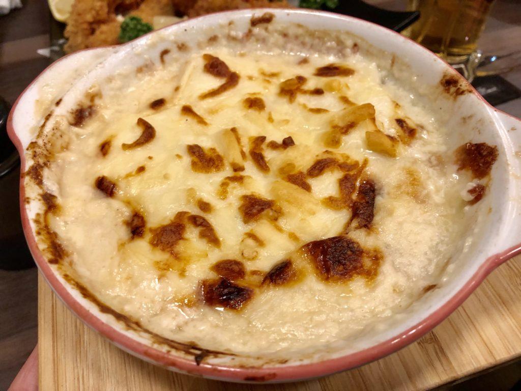 コース料理⑦白子と牡蠣のグラタン