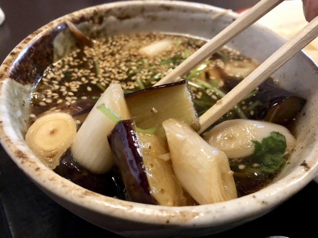 スープの具材アップ写真
