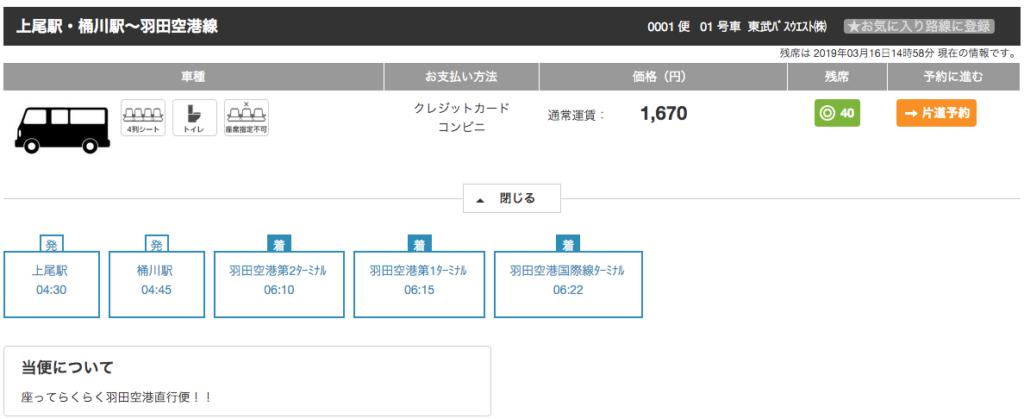 上尾・桶川駅から羽田空港への料金・時刻
