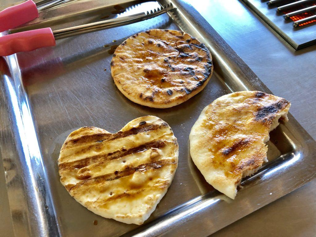 手焼き体験で作った3つの煎餅