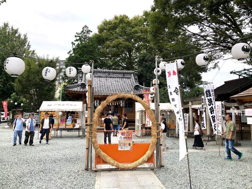 川越熊野神社の全体の様子