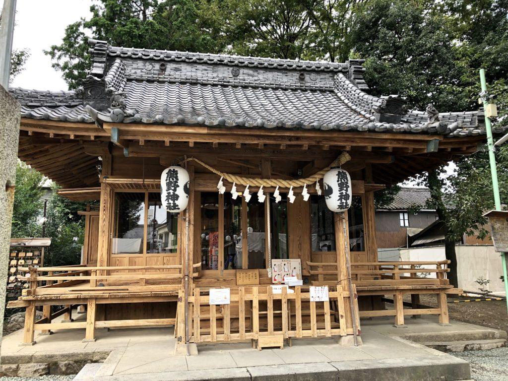 川越熊野神社の参拝所