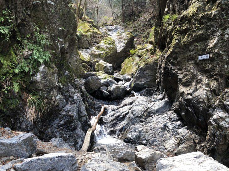 棒ノ折山の岩場