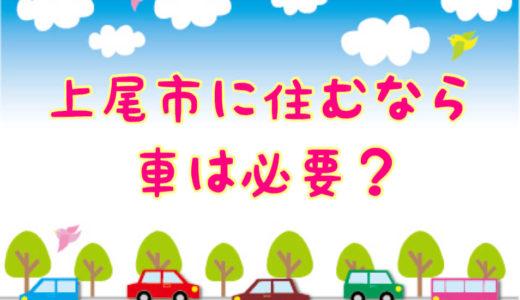 上尾市は車を持たないで生活できるか?地元民が必要かどうか詳しく紹介!