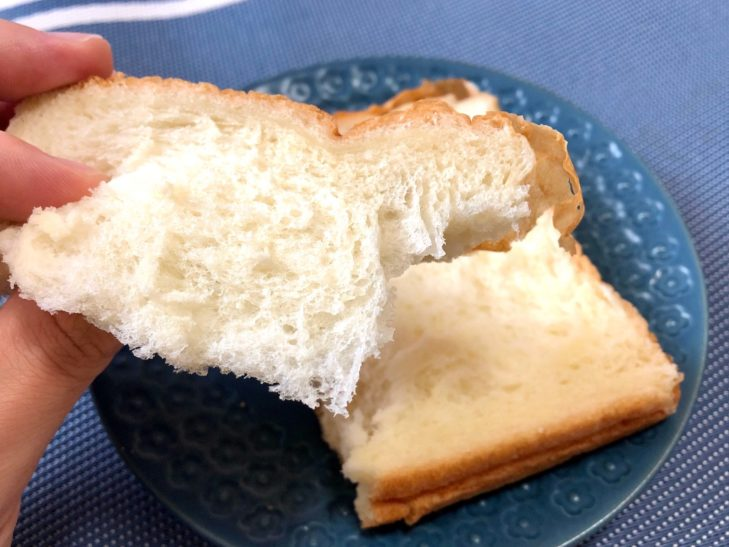 弁慶ベーカリーの食パンアップ画像