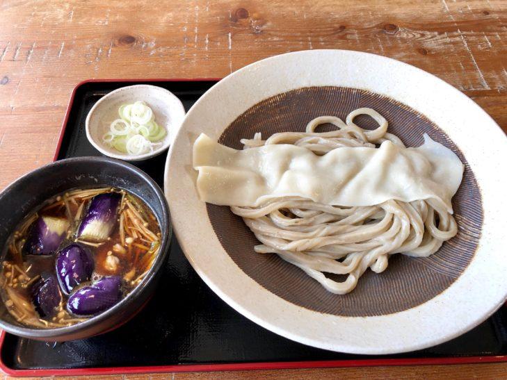 武蔵野うどん のうぼの肉なす汁(ごぼう麺)
