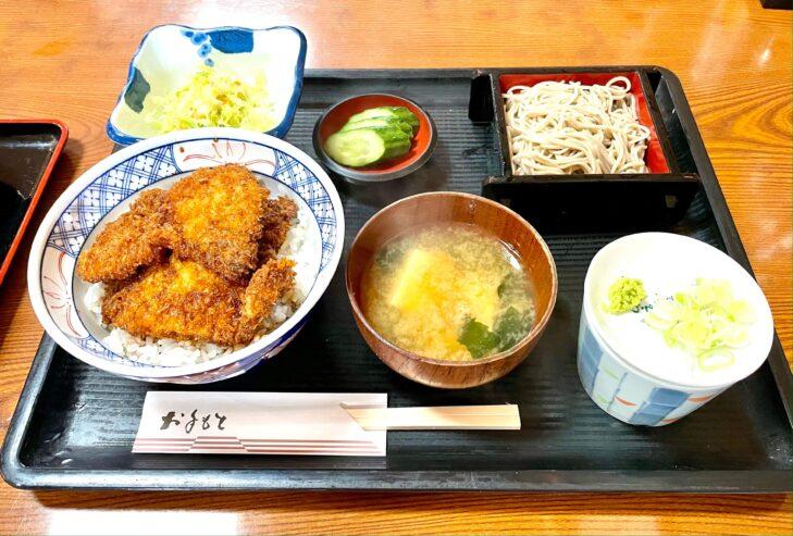 わらじカツ丼とミニ蕎麦セット