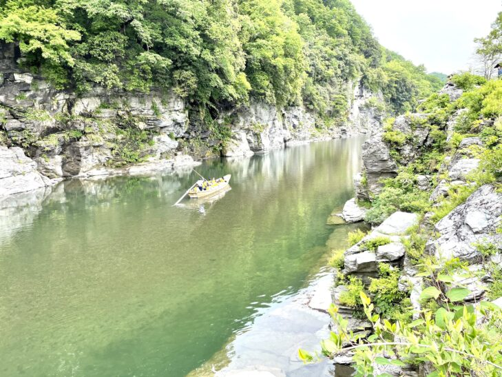 長瀞 岩畳の景色