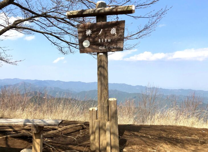 棒ノ折山の頂上